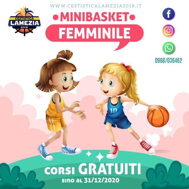 Cestistica Lamezia, corsi GRATUITI per rilanciare il basket femminile