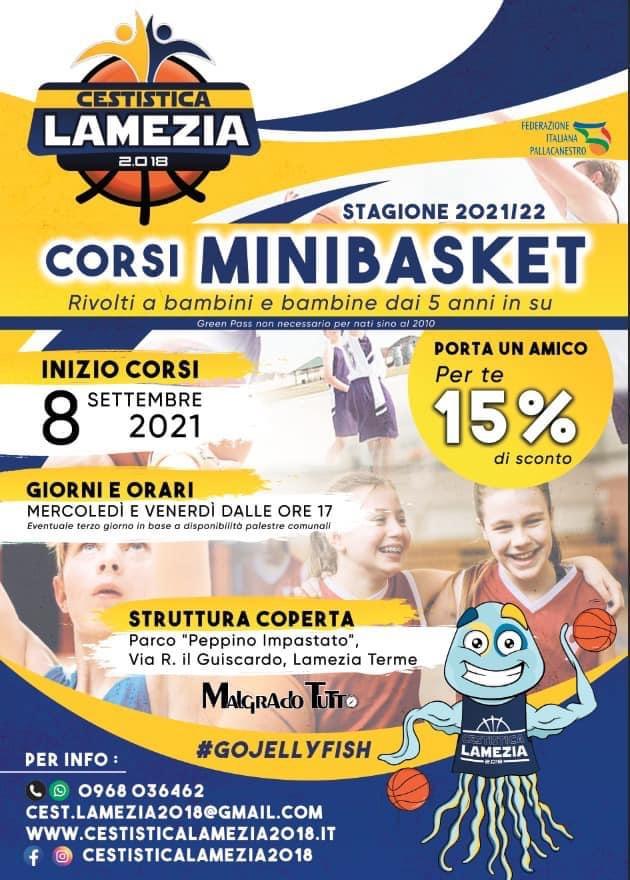 Giorno 8 Settembre ripartono i corsi Minibasket